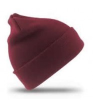 Woollen Hat (Burgundy) with Logo - Ashmount School