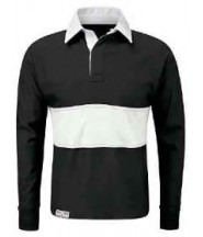 Rugby Top (Black/White) - De Lisle College