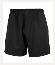 P.E. Rugby Shorts (Black)  - De Lisle College