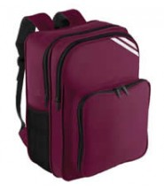 Rucksack (Wine) with Logo - Holy Cross School