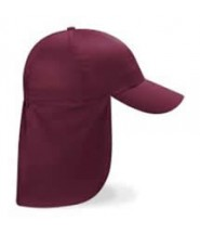 Legionnaire Hat (Burgundy) with Logo - Newtown Linford Primary School