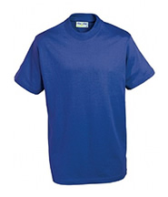 P.E. T-Shirt (Royal Blue) with Logo - St Leonard's Primary School