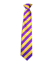 Tie - Clip On - (Gold/Purple) - Rothley C of E Academy