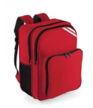 Rucksack (Red) with Logo - Robert Bakewell School