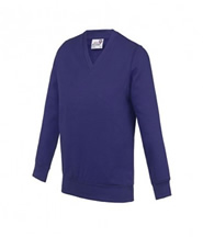 Sweatshirt Knitted (Purple) with Logo - Rothley C of E Academy