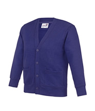 Cardigan Knitted (Purple) with Logo - Rothley C of E Academy