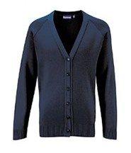 Cardigan Knitted (Navy Blue) with Logo - St Clares Coalville