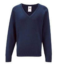 Sweatshirt Knitted (Navy Blue) with Logo - St Clares Coalville