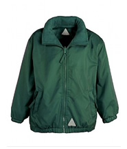 Reversible Jacket (Bottle Green) with Logo - St Botolphs Primary School