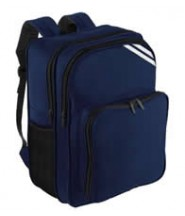 Rucksack (Navy Blue) with Logo  - Stonebow Primary School