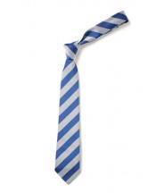 Clip on Tie (Royal/White) - Boothwood School